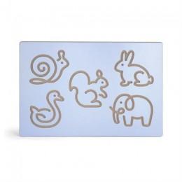 Деревянная доска Viga Toys Рисование зверят (50864)
