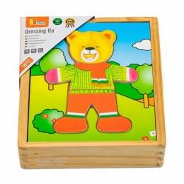 Деревянный игровой набор Viga Toys Гардероб мишки (56401)