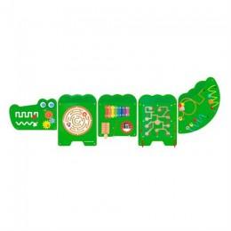 Бизиборд Viga Toys Крокодил, 5 секций (50346)