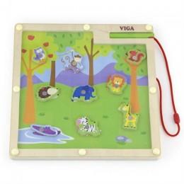 Магнитная настольная игра Viga Toys Джунгли (50194)