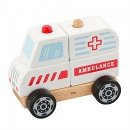 Деревянная пирамидка Viga Toys Viga Toys Машина скорой помощи (50204)