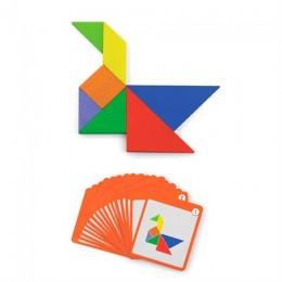 Игра-головоломка Viga Toys Магнитный танграм, 35 эл. (50643)