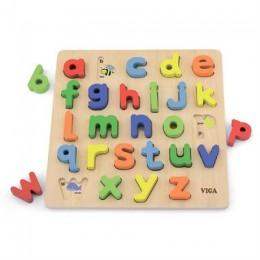 Деревянный пазл Viga Toys Английский алфавит, строчные буквы (50125)