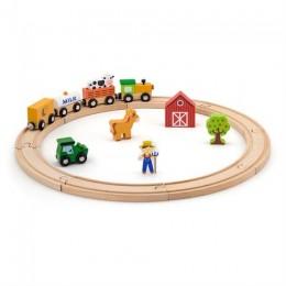 Деревянная железная дорога Viga Toys 19 эл. (51615)