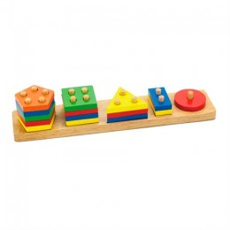 Деревянная логическая пирамидка Viga Toys Геометрические фигуры (58558)