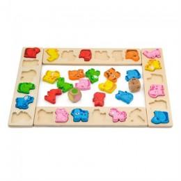 Деревянная игра-сортер Viga Toys Карнавал животных (50450)
