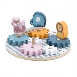 Деревянный игровой набор Viga Toys PolarB Шестеренки со зверятами (44006)