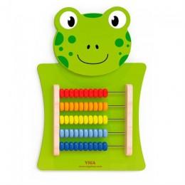 Бизиборд Viga Toys Лягушка со счетами (50679)