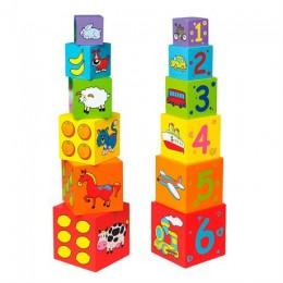 Деревянные кубики-пирамидка Viga Toys (59461)