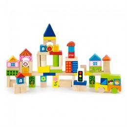 Деревянные кубики Viga Toys Город, 75 шт., 3 см (50287)