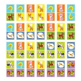 Деревянное домино Viga Toys Фермерские зверята (51306)