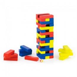Деревянная настольная игра Viga Toys Цветная дженга (56215)