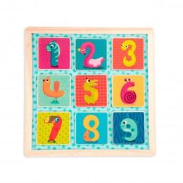 Деревянная игрушка-вкладыш - Магнитные цифры