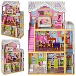 Деревянный домик с мебелью для кукол (аналог KidKraft) арт. 2252