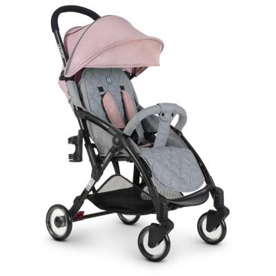"*Коляска детская прогулочная El Camino Wish Pink Gray (аналог ""Yoya"") арт. 1058"