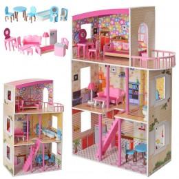 *Деревянный домик с мебелью для кукол (аналог KidKraft) арт. 2411