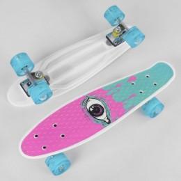 Скейт (пенни борд) Penny board (колеса светятся)  ГЛАЗ арт. 29707