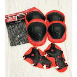 Защита для детей (наколенники и налокотники) КРАСНАЯ арт. 0336-1
