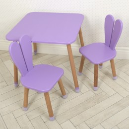 *Комплект детской мебели (стол + 2 стула) арт. 04-25VIOLET+1