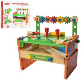 Деревянный конструктор с инструментами на стойке арт. 015