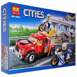 """Конструктор Bela Cities """"Ограбление на буксировщике"""" арт. 10655"""