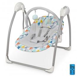 *Детский шезлонг- качалка (колыбель) с электроприводом и пультом El Camino арт. 1047 Triangle Multicolor