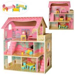 Деревянный домик для кукол (аналог KidKraft) арт. 2203