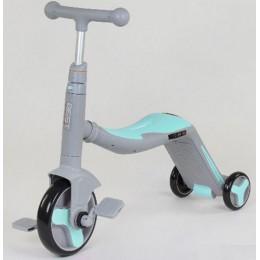 *Самокат - беговел - велосипед 3 в 1 Best Scooter (СЕРО-ГОЛУБОЙ) арт. 10181