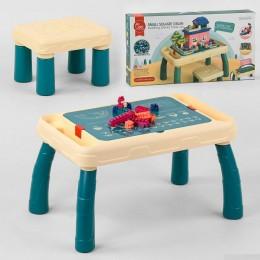 Столик - песочница для сборки конструктора со стульчиком и конструктором арт. 6060