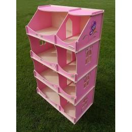 *Кукольный домик-шкаф с росписью (розовый) Украина TM Hega