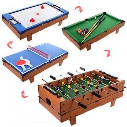 Настольная игра 4 в 1 (хоккей, футбол, теннис, бильярд) арт. 207-4