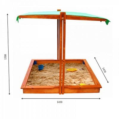*Песочница - трансформер с опускающейся крышей неокрашенная (Украина) арт. 22