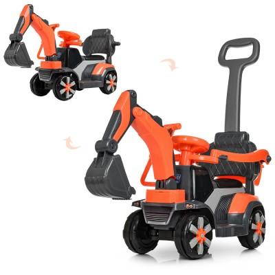 Трактор - электромобиль (каталка - толокар) с родительской ручкой арт. 4141-7