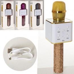 *Микрофон для караоке беспроводной РОЗОВОЕ ЗОЛОТО арт. Q7Lux