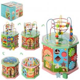 Развивающая деревянная игрушка (бизиборд, пальчиковый лабиринт) арт. 2385