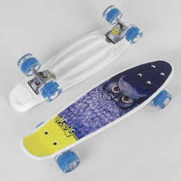 Скейт (пенни борд) Penny board (колеса светятся) СОВА арт. 29855