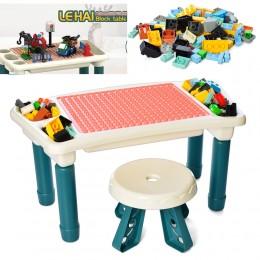 Столик - песочница для сборки конструктора со стульчиком и конструктором арт. 6314