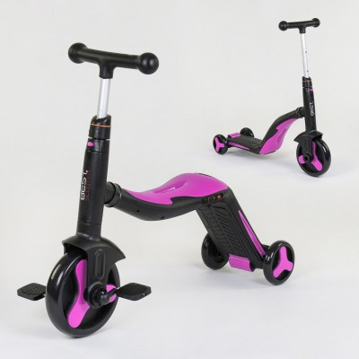 *Самокат - беговел - велосипед 3 в 1 Best Scooter (РОЗОВЫЙ) арт. 70708