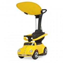 *Электромобиль (каталка - толокар) с родительской ручкой Volkswagen Beetle арт. 618-6