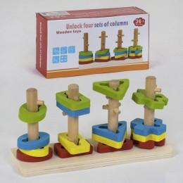 Деревянная логическая пирамидка арт. 39148