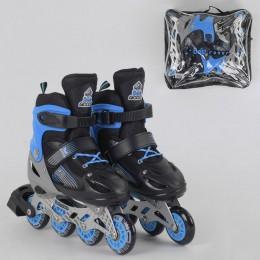 *Ролики Best Rollers (Сине-черные) арт. 30093 размер L /38-42/ колёса PVC