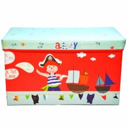 Детский пуф (корзина для игрушек) КРАСНЫЙ арт. 44351