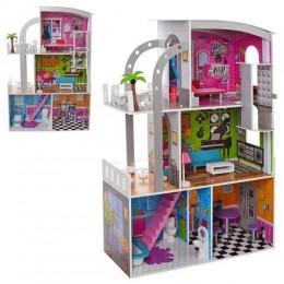 *Деревянный домик с мебелью для кукол арт. 2012