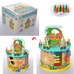 Развивающая деревянная игрушка (бизиборд, пальчиковый лабиринт) арт. 2185