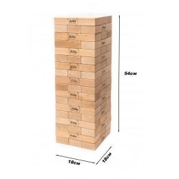 *Настольная деревянная игра Big Jenga Дженга ТМ Holiday (высота башни 54 см)