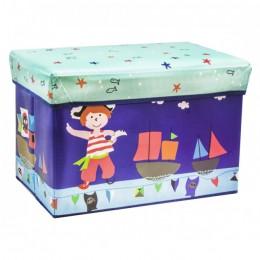 Детский пуф (корзина для игрушек) СИНИЙ арт. 44351