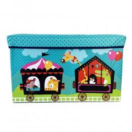 Детский пуф (корзина для игрушек) БИРЮЗОВЫЙ арт. 44351