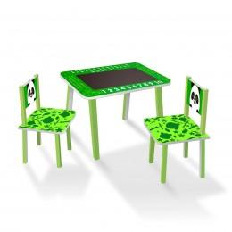 Набор детской мебели (столик с меловой поверхностью + 2 стульчика) арт. C025