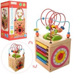 """Деревянная игрушка """"Логический куб"""" (лабиринт, бизиборд) арт. 1102"""