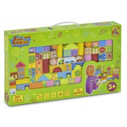 "Деревянные кубики ""Городок"" Win Fun арт. 7375"